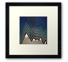 Abstract Majestic Rainy Mountains Framed Print