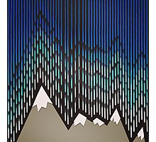 Abstract Majestic Rainy Mountains Photographic Print