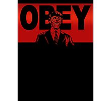 Obey Zombie Photographic Print