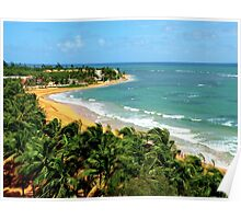 Playa Azul- Puerto Rico Poster