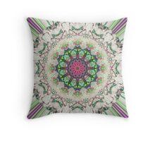 Textural Circular Abstract Throw Pillow