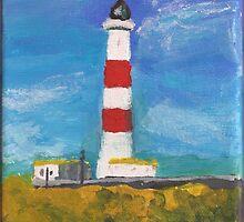 Tarbat Ness Lighthouse, Portmahomack, Scottish Highlands by Michael Biggs
