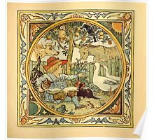 Walter Crane's Painting Book 1889 17 - Animals in the Garden Color Poster