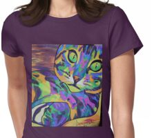 Skittles Button Womens Fitted T-Shirt