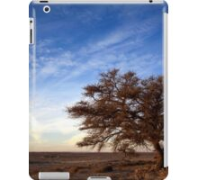 Dry parched tree in a desert landscape  iPad Case/Skin