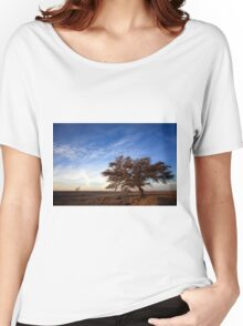 Dry parched tree in a desert landscape  Women's Relaxed Fit T-Shirt
