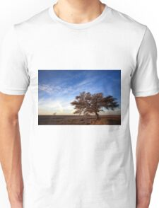 Dry parched tree in a desert landscape  Unisex T-Shirt