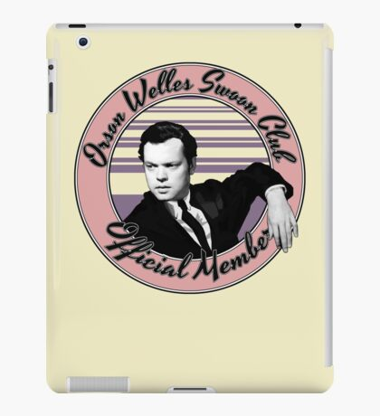 Orson Welles Swoon Club - Faded Pink iPad Case/Skin