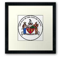 Seal of Albany Framed Print