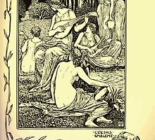 The shepheard's calender twelve aeglogues proportionable to the twelve monethes Newly adorned with twelve pictures and other devices by Walter Crane 1898 73 - June by wetdryvac