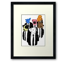 Real Reservoir Dogs sticker Framed Print