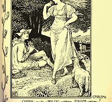 The shepheard's calender twelve aeglogues proportionable to the twelve monethes Newly adorned with twelve pictures and other devices by Walter Crane 1898 91 - August by wetdryvac