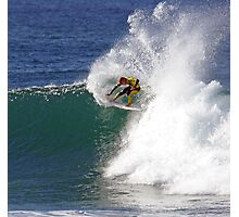 Mick Fanning wins heat at 2009 Rip Curl Pro Photographic Print