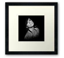 Ally - Reflection Digital Painting Framed Print