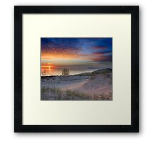Sunset on Lake Michigan from Sleeping Bear Dunes National Lakeshore, Michigan Framed Print