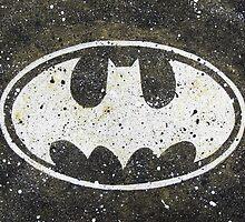 Batman Splatter Bat Signal by HerkDesigns