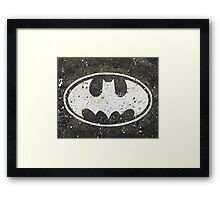 Batman Splatter Bat Signal Framed Print