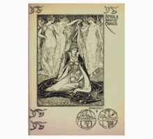 The shepheard's calender twelve aeglogues proportionable to the twelve monethes Newly adorned with twelve pictures and other devices by Walter Crane 1898 53 - April Baby Tee