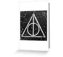 Harry Potter Deathly Hallows Greeting Card