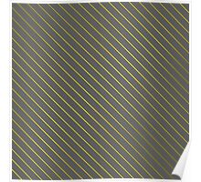 Bright Yellow Pinstripe on Slate Grey Background Poster