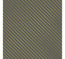 Bright Yellow Pinstripe on Slate Grey Background Photographic Print