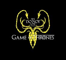 We Do Not Sow Greyjoy Game Of Thrones by darkdrake