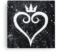 Kingdom Hearts II Heart Canvas Print