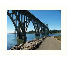 Newport Bridge Art Print