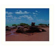 Natural Rock Sculpture at Roebuck Bay Art Print