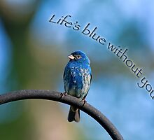 Life's blue without you by Bonnie T.  Barry
