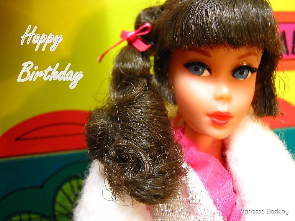Barbie Happy Birthday Greeting Card by Vanessa Barklay