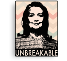 Unbreakable Hillary Canvas Print
