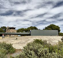 Vickers and Armstrong 38.1 cm gun, Bateria de Cenizas, Costa Calida, Spain by Squealia