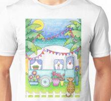 Cat Art Caravan Painting Unisex T-Shirt