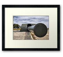 Vickers and Armstrong 38.1 cm gun, Bateria de Cenizas, Costa Calida, Spain Framed Print