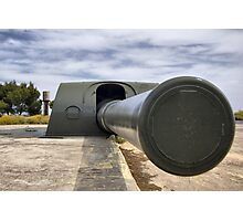Vickers and Armstrong 38.1 cm gun, Bateria de Cenizas, Costa Calida, Spain Photographic Print