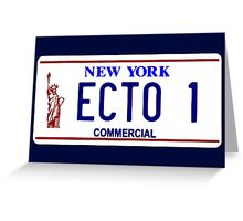 ECTO 1 Greeting Card