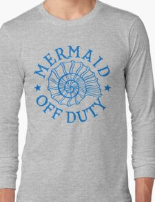 Mermaid Off Duty - blue Long Sleeve T-Shirt