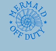 Mermaid Off Duty - blue Womens Fitted T-Shirt