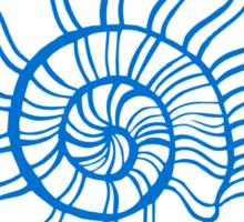 Mermaid Off Duty - blue Sticker