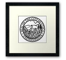 Seal of Utica Framed Print