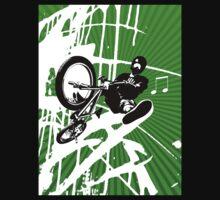 BMX Pop Art Green by JayBakkerArt