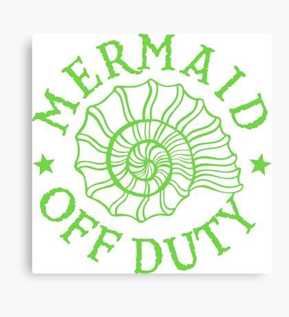 Mermaid Off Duty - green Canvas Print