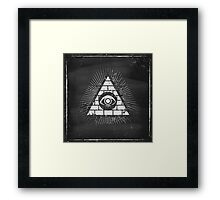 Pyramid with eye Framed Print