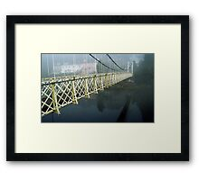 The Shakey Bridge In Colour Framed Print
