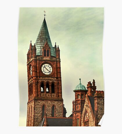 Derry Guildall - clock tower Poster