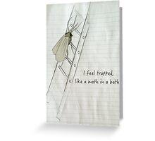 A Moth In A Bath Greeting Card