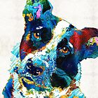 Colorful Dog Art - Irresistible - By Sharon Cummings by Sharon Cummings
