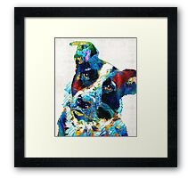 Colorful Dog Art - Irresistible - By Sharon Cummings Framed Print