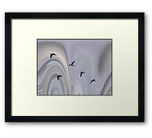 Geese in the Jet Stream Framed Print